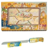 Bible Stories Challah Board & Challah Knife + Stand