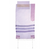 Emanuel Organza Tallit   Light Purple
