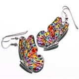 Millefiori Thousand Flowers Butterfly Earrings