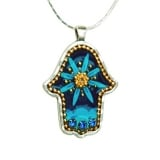 Blue Flower Hamsa Jewelry