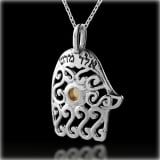 Kabbalah Hamsa Necklace for Health and Protection