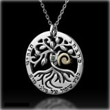 Circle of Life Tree Kabbalah Necklace