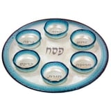 Fused Glass Passover Seder Plate by Itay Mager