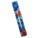 Blue Flower Mezuzah Case by Tzuki