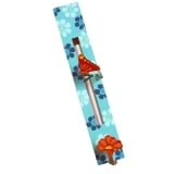 Turquoise Flower Mezuzah Case by Tzuki