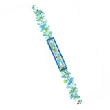 Spring Blue Design Mezuzah Case