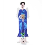 Royal Blue Angel Mezuzah Case by Tzuki