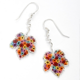 Grape Leaf Earrings   Thousand Flower
