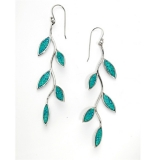 Olive Branch Earrings   Turquoise color