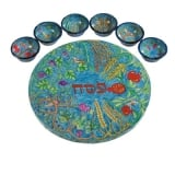 Seven Species Seder Plate and Six Small Bowls   Yair Emanuel
