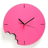 Pink Bite Wall Clock by ArtOri