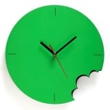 Green Bite Wall Clock by ArtOri