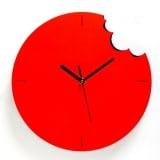 Red Bite Wall Clock by ArtOri