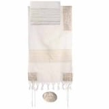 Jerusalem in Silver Emanuel Embroidered Cotton Tallit