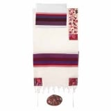 Emanuel Embroidered Cotton Tallit   The Matriarches in Color