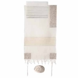Emanuel  The Matriarches in Silver Embroidered Cotton Tallit