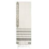 Emanuel Embroidered Wool Tallit � Pomegranate in Olive Green