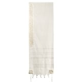Emanuel Embroidered Wool Tallit � Pomegranate in Silver