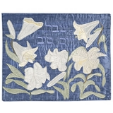 White Flowers Challah Cover