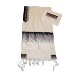 Gabrieli Wool Tallit Black And Silver