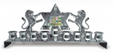 Hoshen With Lions Hanukkah Menorah   Nickel