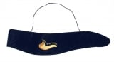 Gold Shofar Design blue Velvet Yemenite Shofar Pouch