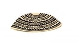 Black and White striped Frik Kippah