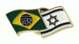 Israel-Brazil flags pin