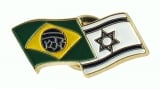 Israel Brazil flags pin