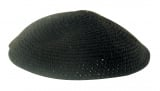 Handmade black knitted Kippah