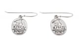 Silver Seal of Princess Maadana Earrings