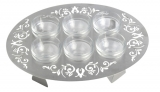 Oval Stainless Steel Seder Plate   Dorit Judaica