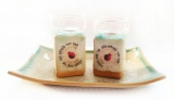 Ceramic Candlesticks with Tray by Michal ben Yosef   Lecha Dodi