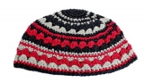 Black White Red Frik Kippah