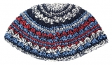 Frik Kippah with Red And Blue Stripes