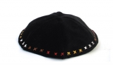 Hand Decorated Multicolor X Velvet Kippah