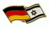 Israel Germany flags pin