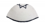 Frik Kippah With Dark Blue Star Of David