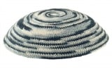 Knitted Kippah in shades of gray