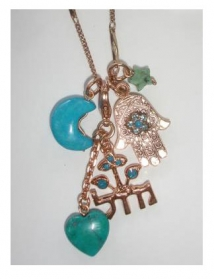Turquoise Luck Necklace by aJudaica