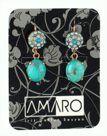 Turquoise Earrings by Amaro by aJudaica