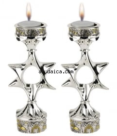 Jerusalem star candles