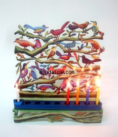 David Gerstein Birds Hanukkah Menorah by aJudaica