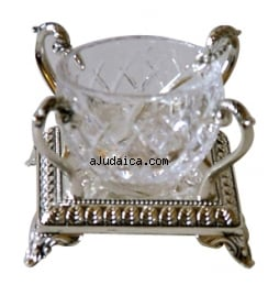 Salt Dish with glass holder by aJudaica