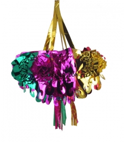 Shiny Hanging Star Sukkah Decoration by aJudaica