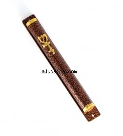 Mezuzah   Brown and Black by aJudaica