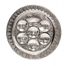 Silver Passover Plate