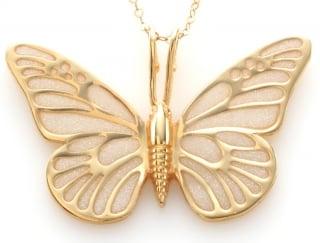 Beige Butterfly Pendant by Adina Plastalina
