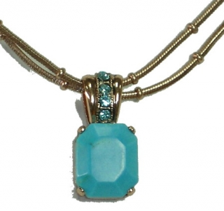 Blue Stone Necklace by aJudaica