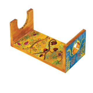 Large Hand Painted Wooden Shofar Stand   7 Species by aJudaica